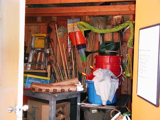 Discovery Garden storage shed