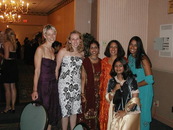Julie, Lisa, Neha, and other women from the wedding
