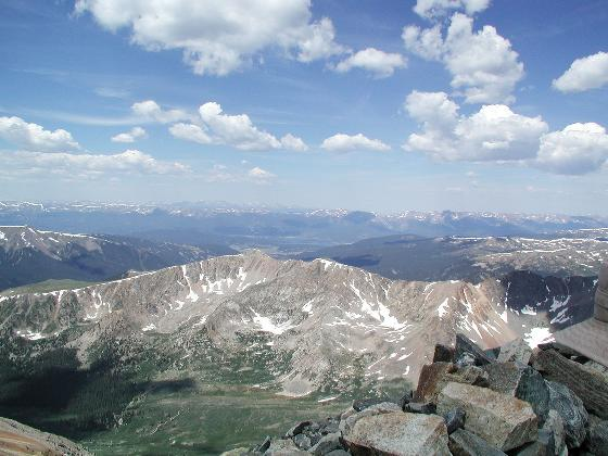 A view to the west, Lake Dillon visible in the distance