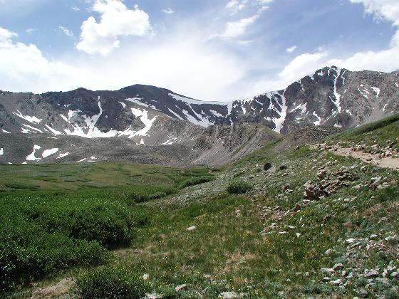 Grays (left: 14,270 feet) and Torreys (right: 14,267 feet) peak