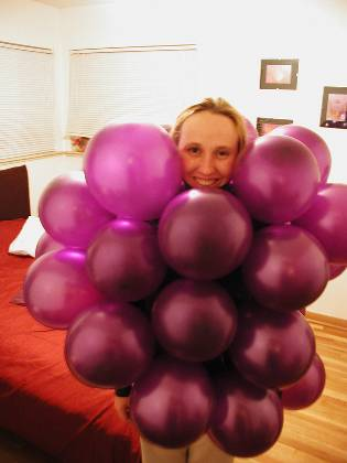 Lisa as grapes