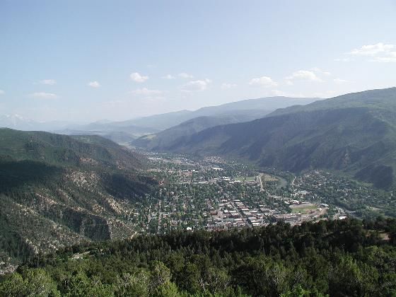 View from top of Iron Mountain of Glenwood Springs