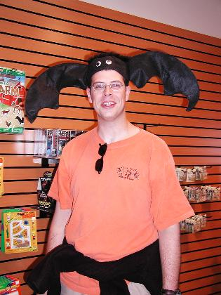 Brian with a bat hat