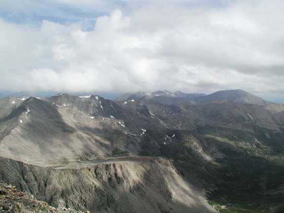 Facing northeast, Quadry(right) and Fletcher(center) mountains