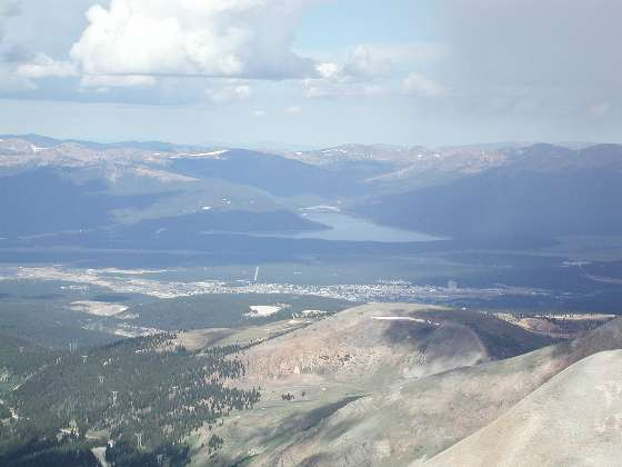 Looking westward to Leadville and Turquois Lake