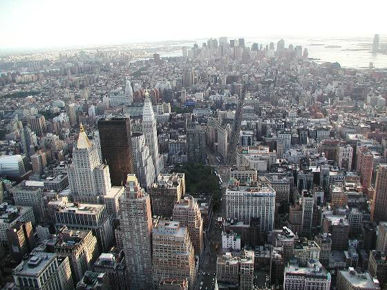 View to south from Empire State Building