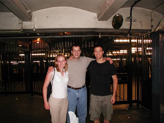 Lisa, Brian and Paul in the subway station