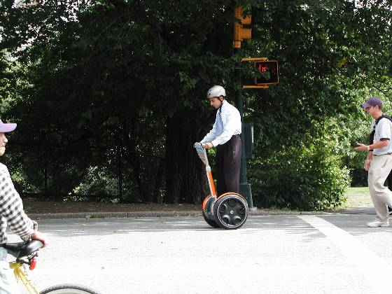 A Segway Scooter (AOL event) in Central Park