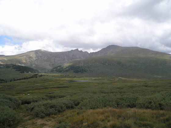Looking back on Bierstadt from the trailhead