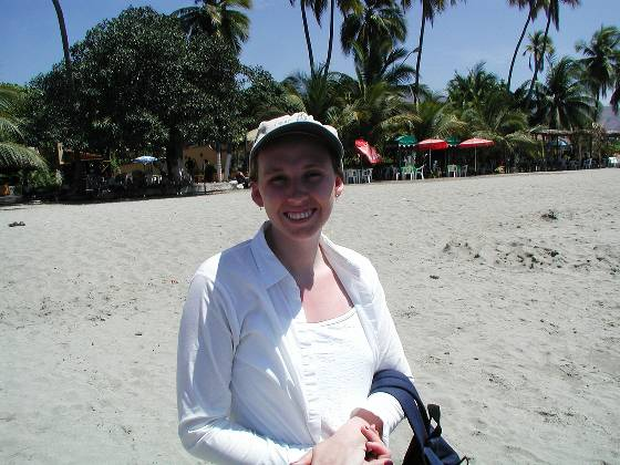 Lisa at Playa Principal in Zihuatanejo
