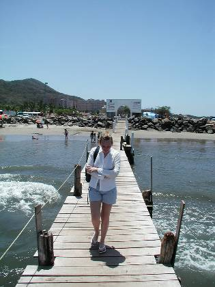 The pier at Playa Linda (Ixtapa)