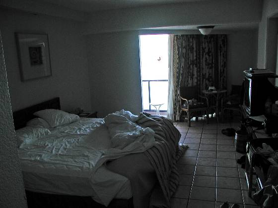 Our hotel room (pardon the mess....)