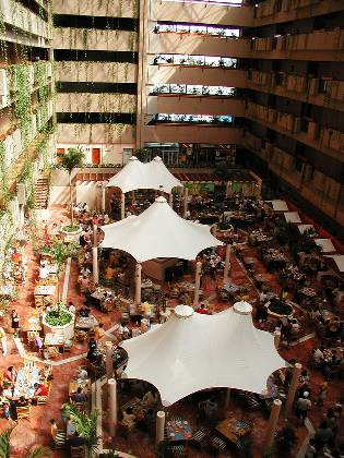 Restaraunt in the hotel atrium