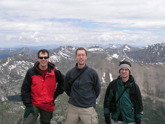 Brian, Lonny, and Adam on Lincoln Summit