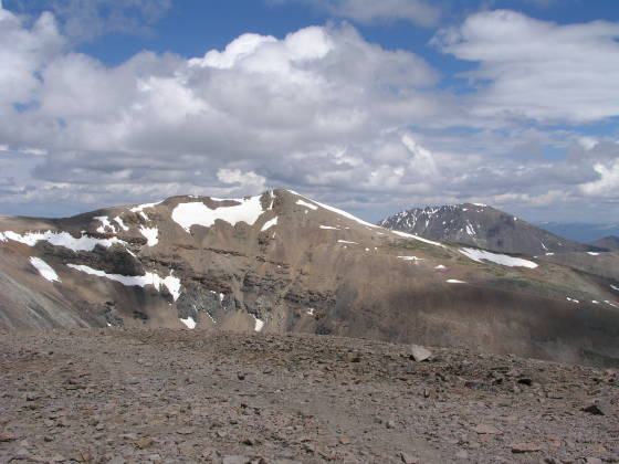 Lincoln Summit, as seen from Bross Summit