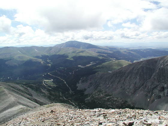 View from near the summit into valley below