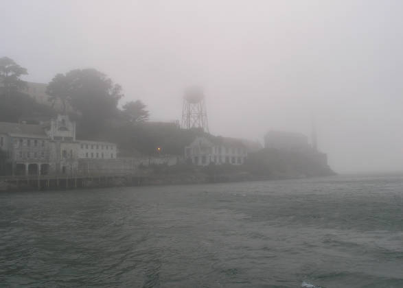 Alcatraz in the mist