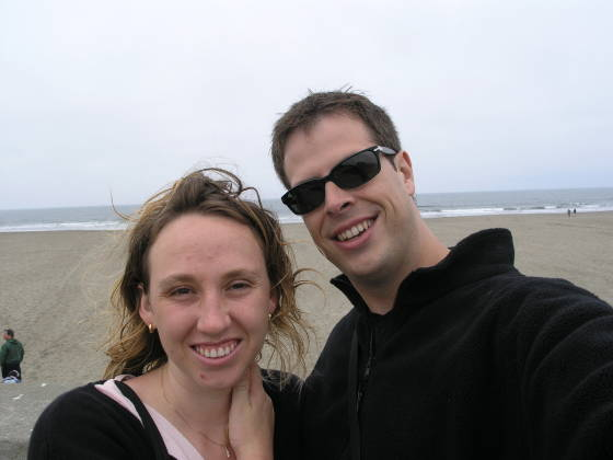 Brian and Lisa at the Pacific Ocean