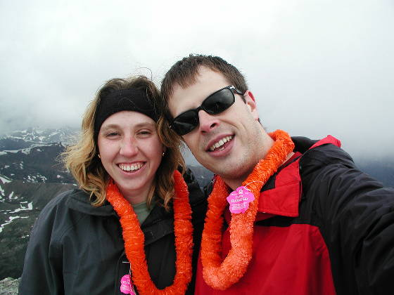 Brian and Lisa, just prior to the snow falling