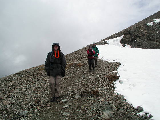 Descending to the Grays-Torreys saddle