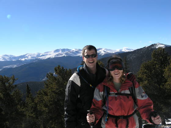 Brian and Lisa, Mt. Evans in the distance