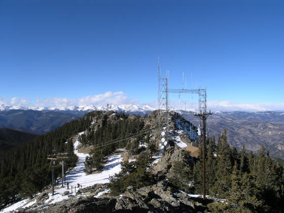 The rest of the Squaw Mountain summit, looking northeast