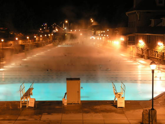 Glenwood Springs Pool at night