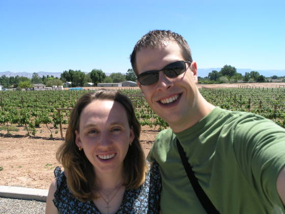 Brian and Lisa at Two Rivers Winery (Grand Junction)