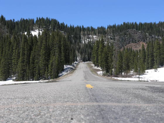 The road across Grand Mesa