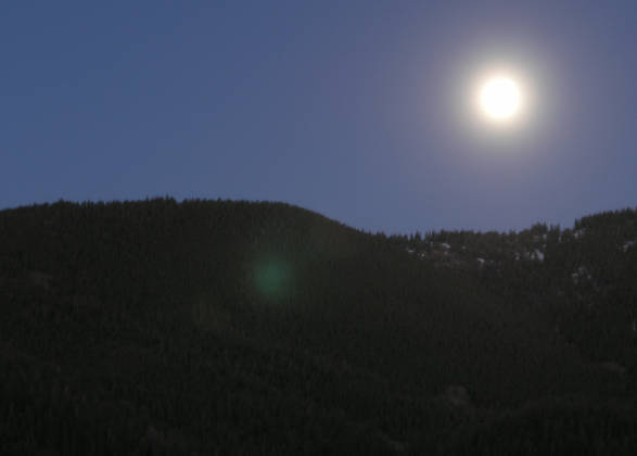 The full moon rising over Monarch Pass