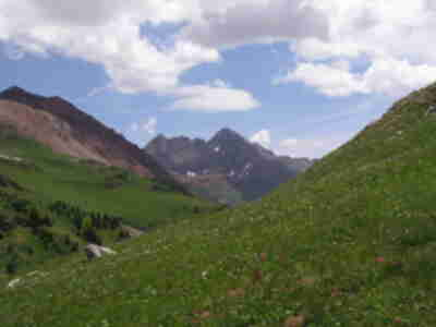 The west side of the Maroon Bells