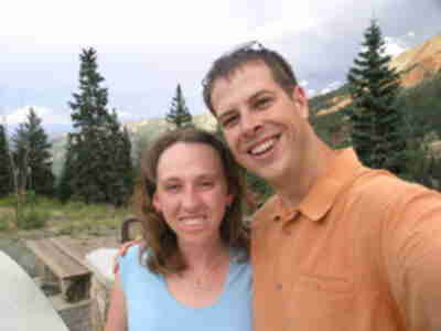Brian and Lisa, near Red Mountain Pass summit