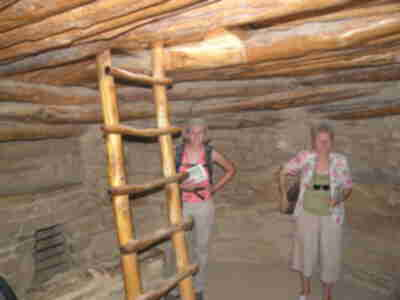 Inside the kiva at Spruce Tree House