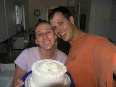 Brian and Lisa with 5th Anniversary cake!