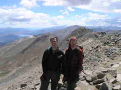 Brian and Lonny on Massive summit