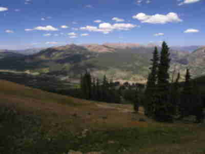 The Gore Range, visible from the top of Copper Mountain