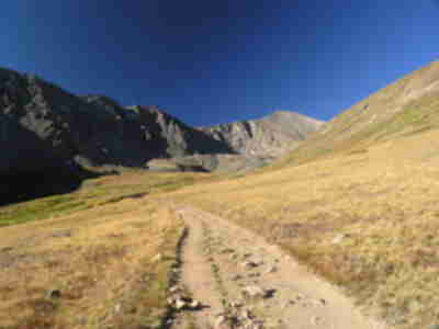 Grays Peak, visible at the end of Stevens Gulch