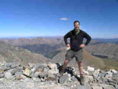 Brian on the summit of Grays