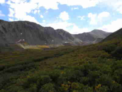 Looking up Stevens Gulch to Grays Peak