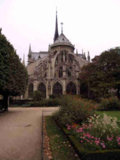 Notre Dame, from the east