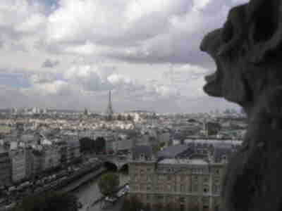 Looking westward from the top of Notre Dame