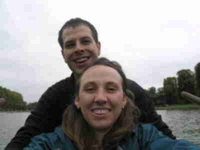 Brian and Lisa on the Grand Canal in a rowboat