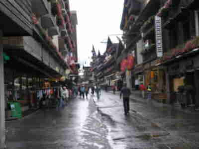 The main street in Zermatt