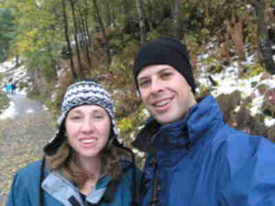 Brian and Lisa, hiking towards Blatten