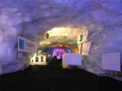Inside the glacier palace
