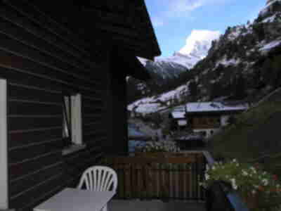Our balcony, with the Matterhorn finally visible