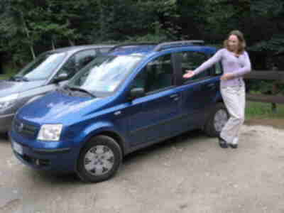 Our rental: the spectacular Fiat Panda