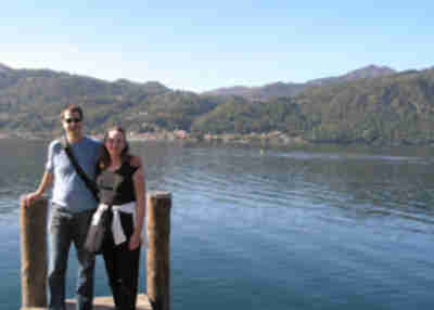 Brian and Lisa at Lago d'Orta