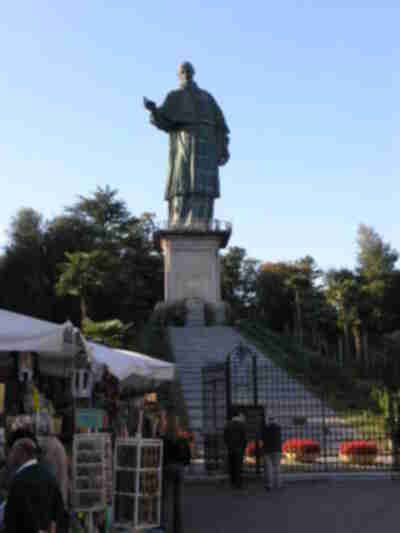 """Sacro Monte"" of St. Charles - a really big statue of a saint"