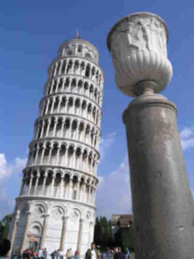 The Tower of Pisa...yup...it leans all right!